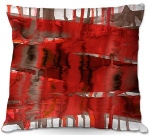 Throw Pillows Decorative Artistic | Julia Di Sano - Balancing Act Bright Red | Abstract