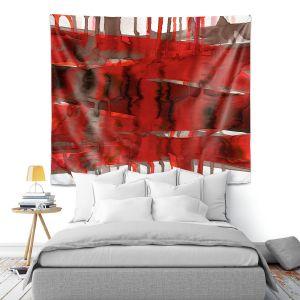 Artistic Wall Tapestry   Julia Di Sano - Balancing Act Bright Red   Abstract