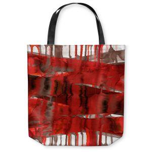 Unique Shoulder Bag Tote Bags | Julia Di Sano - Balancing Act Bright Red | Abstract