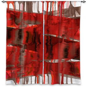 Decorative Window Treatments | Julia Di Sano - Balancing Act Bright Red | Abstract