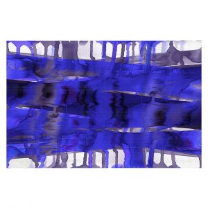 Decorative Floor Coverings | Julia Di Sano - Balancing Act Electric Blue | Abstract
