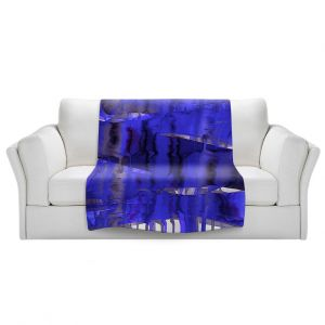 Artistic Sherpa Pile Blankets   Julia Di Sano - Balancing Act Electric Blue   Abstract