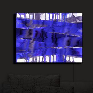 Nightlight Sconce Canvas Light | Julia Di Sano - Balancing Act Electric Blue