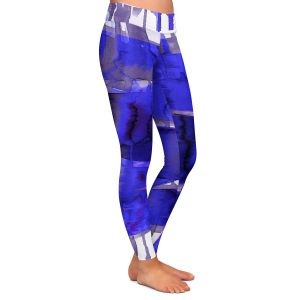 Casual Comfortable Leggings | Julia Di Sano - Balancing Act Electric Blue | Abstract