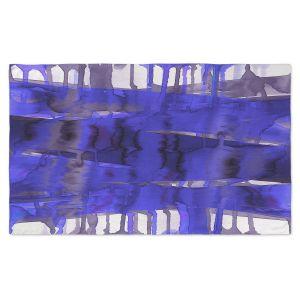 Artistic Pashmina Scarf | Julia Di Sano - Balancing Act Electric Blue | Abstract