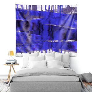 Artistic Wall Tapestry   Julia Di Sano - Balancing Act Electric Blue   Abstract
