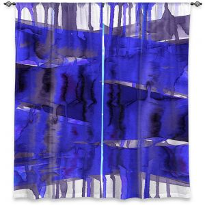 Decorative Window Treatments | Julia Di Sano - Balancing Act Electric Blue | Abstract