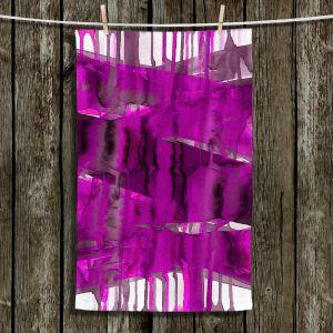 Unique Hanging Tea Towels | Julia Di Sano - Balancing Act Fucshia | Abstract