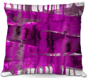 Unique Outdoor Pillow 18X18 from DiaNoche Designs by Julia Di Sano - Balancing Act Fucshia