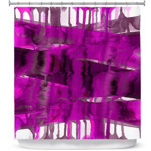 Premium Shower Curtains   Julia Di Sano - Balancing Act Fucshia   Abstract