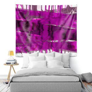 Artistic Wall Tapestry | Julia Di Sano - Balancing Act Fucshia | Abstract