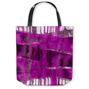 Unique Shoulder Bag Tote Bags | Julia Di Sano - Balancing Act Fucshia | Abstract