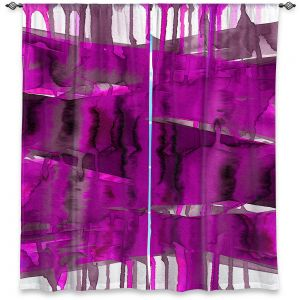 Decorative Window Treatments | Julia Di Sano - Balancing Act Fucshia | Abstract