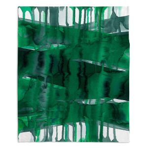 Artistic Sherpa Pile Blankets | Julia Di Sano - Balancing Act Green | Abstract