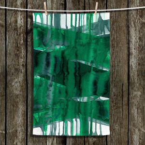 Unique Bathroom Towels | Julia Di Sano - Balancing Act Green | Abstract