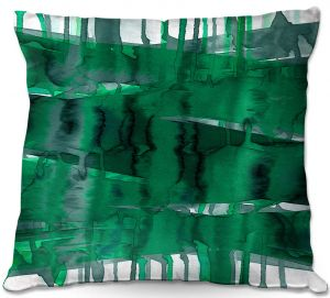 Decorative Outdoor Patio Pillow Cushion | Julia Di Sano - Balancing Act Green | Abstract