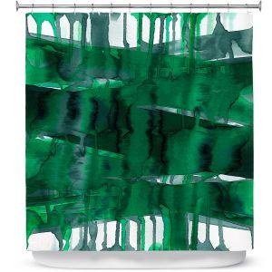 Premium Shower Curtains | Julia Di Sano - Balancing Act Green | Abstract
