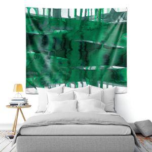 Artistic Wall Tapestry | Julia Di Sano - Balancing Act Green | Abstract