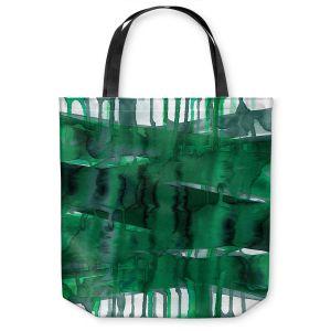 Unique Shoulder Bag Tote Bags | Julia Di Sano - Balancing Act Green | Abstract