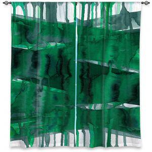 Decorative Window Treatments   Julia Di Sano - Balancing Act Green   Abstract