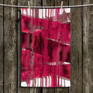 Unique Hanging Tea Towels | Julia Di Sano - Balancing Act Hot Pink | Abstract