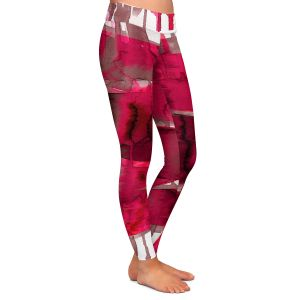 Casual Comfortable Leggings | Julia Di Sano - Balancing Act Hot Pink | Abstract