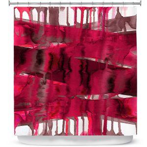 Premium Shower Curtains | Julia Di Sano - Balancing Act Hot Pink | Abstract