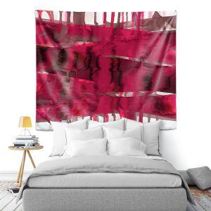 Artistic Wall Tapestry | Julia Di Sano - Balancing Act Hot Pink | Abstract