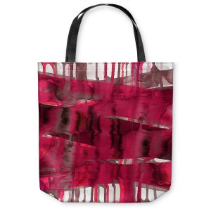 Unique Shoulder Bag Tote Bags | Julia Di Sano - Balancing Act Hot Pink | Abstract