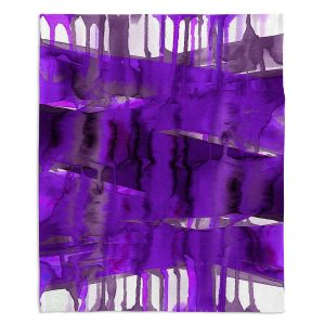 Artistic Sherpa Pile Blankets | Julia Di Sano - Balancing Act Purple | Abstract