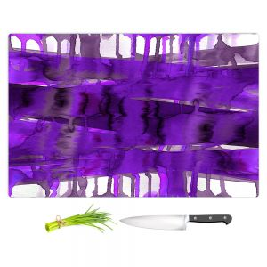 Artistic Kitchen Bar Cutting Boards | Julia Di Sano - Balancing Act Purple | Abstract