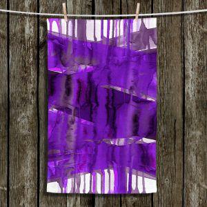 Unique Hanging Tea Towels | Julia Di Sano - Balancing Act Purple | Abstract