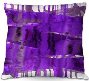 Throw Pillows Decorative Artistic   Julia Di Sano - Balancing Act Purple   Abstract