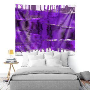 Artistic Wall Tapestry | Julia Di Sano - Balancing Act Purple | Abstract