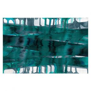 Decorative Floor Coverings | Julia Di Sano - Balancing Act Teal | Abstract