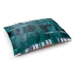 Decorative Dog Pet Beds | Julia Di Sano - Balancing Act Teal | Abstract