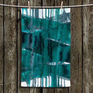 Unique Hanging Tea Towels | Julia Di Sano - Balancing Act Teal | Abstract