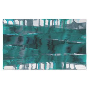 Artistic Pashmina Scarf | Julia Di Sano - Balancing Act Teal | Abstract