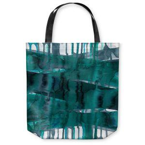 Unique Shoulder Bag Tote Bags | Julia Di Sano - Balancing Act Teal | Abstract