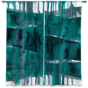 Decorative Window Treatments | Julia Di Sano - Balancing Act Teal | Abstract