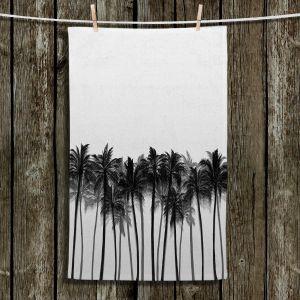 Unique Bathroom Towels | Julia Di Sano - Beach Palms Greyscale | Beach Ocean Trees Nature