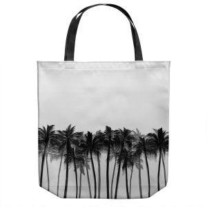 Unique Shoulder Bag Tote Bags   Julia Di Sano - Beach Palms Greyscale   Beach Ocean Trees Nature