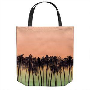 Unique Shoulder Bag Tote Bags | Julia Di Sano - Beach Palms Peach Moss | Beach Ocean Trees Nature