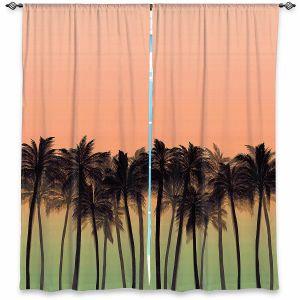 Decorative Window Treatments | Julia Di Sano - Beach Palms Peach Moss | Beach Ocean Trees Nature
