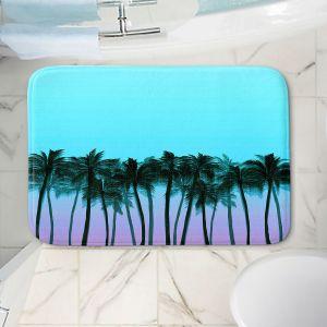 Decorative Bathroom Mats   Julia Di Sano - Beach Palms Sky Purple   Beach Ocean Trees Nature