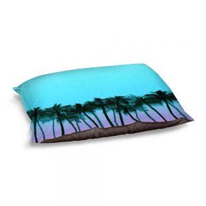 Decorative Dog Pet Beds | Julia Di Sano - Beach Palms Sky Purple | Beach Ocean Trees Nature