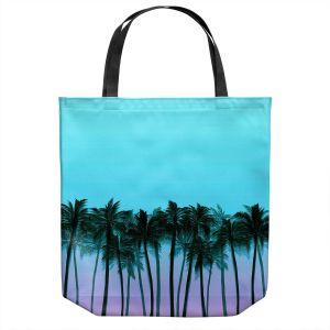 Unique Shoulder Bag Tote Bags   Julia Di Sano - Beach Palms Sky Purple   Beach Ocean Trees Nature