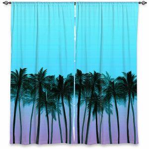 Decorative Window Treatments | Julia Di Sano - Beach Palms Sky Purple | Beach Ocean Trees Nature