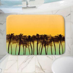 Decorative Bathroom Mats   Julia Di Sano - Beach Palms Tangerine   Beach Ocean Trees Nature