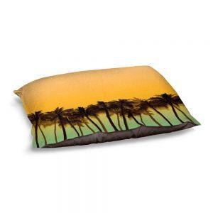 Decorative Dog Pet Beds   Julia Di Sano - Beach Palms Tangerine   Beach Ocean Trees Nature